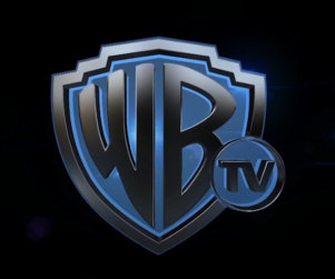 Warner Bros TV slate and blue graphic