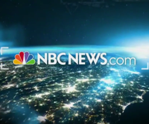 NBC logo with text that reads NBCNews.com over an aerial view of Earth at night